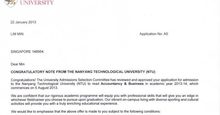 Welcome all!: Congratulatory Note from NTU