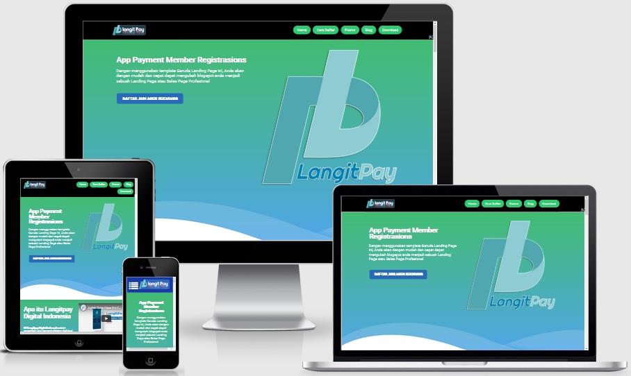 LangitPay Responsive Landing Page Blogspot