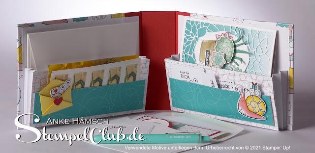 DIY Briefmappe mit Buchbinderleinen und Graupappe