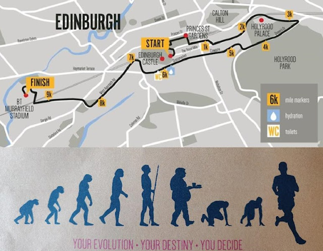 Men's 10k Banner and Route Map