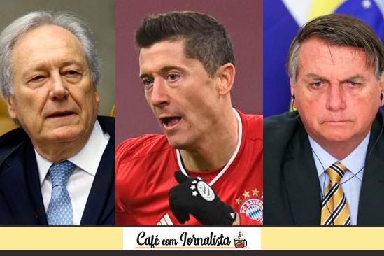 Os Lewandowski ministro e jogador e o presidente Jair Bolsonaro