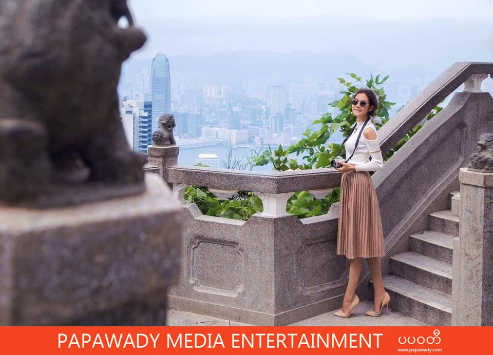 Stylish and Gorgeous Model Awn Seng In Hong Kong and Features In Myanmar National Airline Magazine