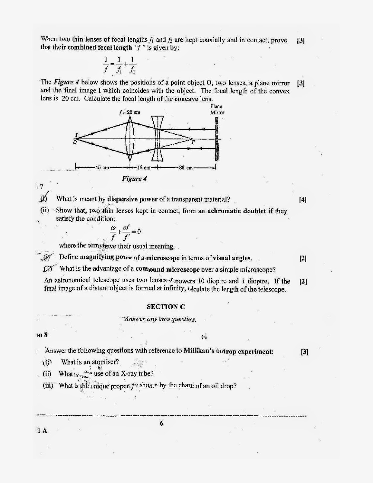 isc 2014 class 12th Physics Theory question paper