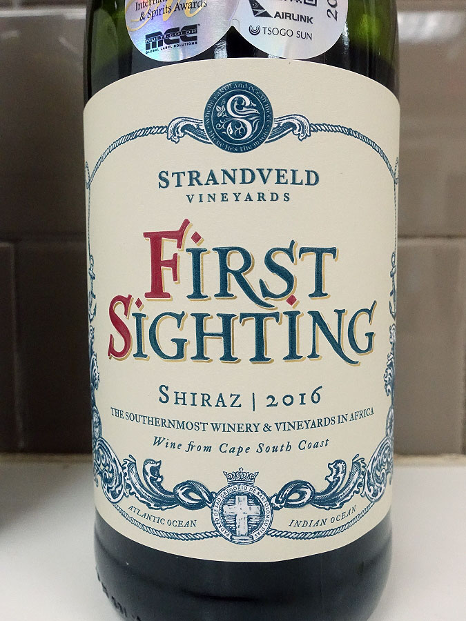 Strandveld First Sighting Shiraz 2016 (88 pts)