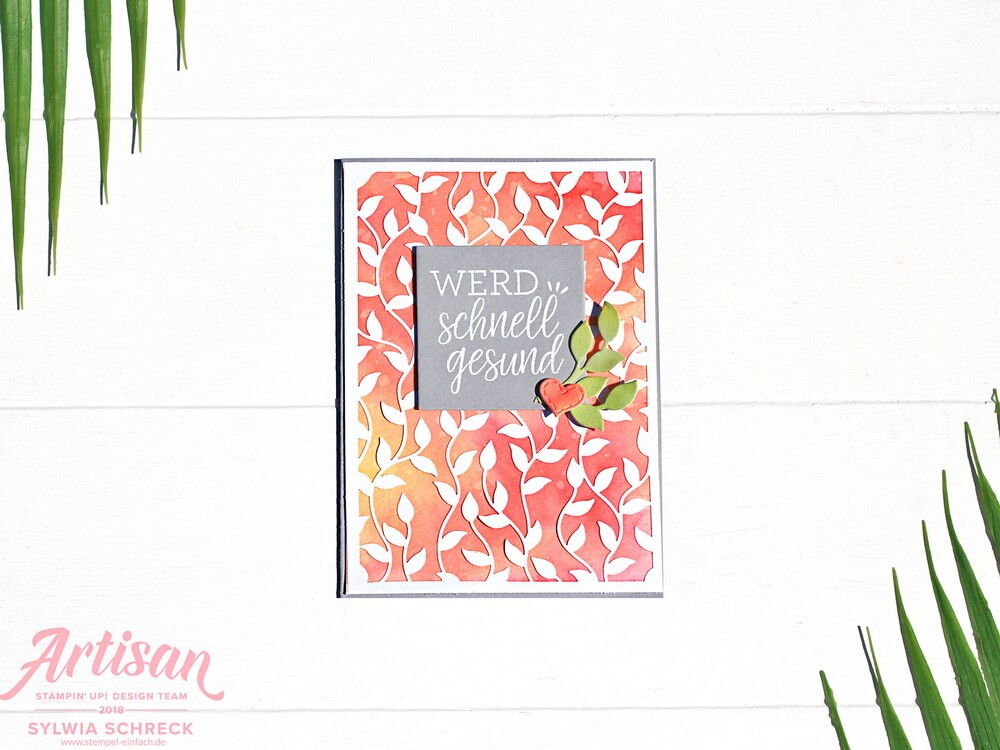 Aquarellkarte mit Brusho Crystal Colour von Stampin Up