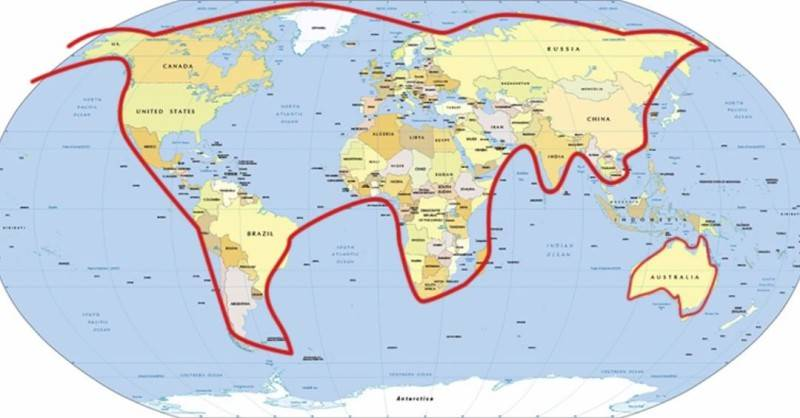 World map of the whole world in the form of a cat playing with Australia