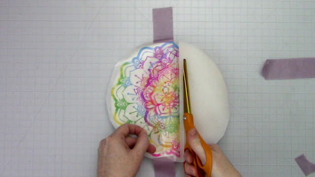 mandalas, hinge method, parchment paper, sticker paper, silhouette cameo project