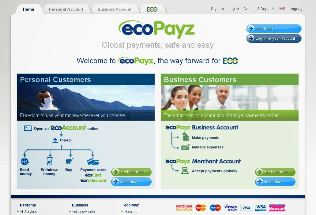 ecoPayz Screen