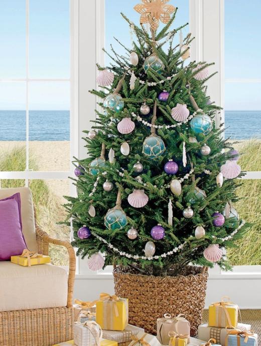 Oversized Nautical Ornaments Christmas Tree