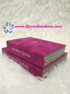 Rainbow Quran, Rainbow Quran Falistya, Rainbow Quran Velvet, Rainbow Quran Suede, Rainbow Quran Falistya Large Size, Rainbow Quran Large Size