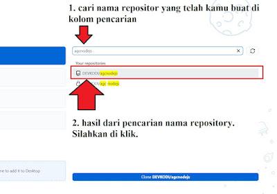 step 5 - cara mengaitkan akun github ke aplikasi github dekstop