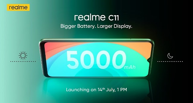Realme C11 To Be Launch With 6.53inch HD+ Display, 13MP Camera, 5000mAh Battery & More