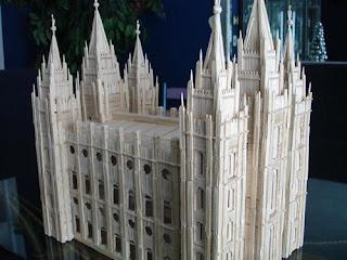 Iglesia con palillos para dientes o Picadientes de madera