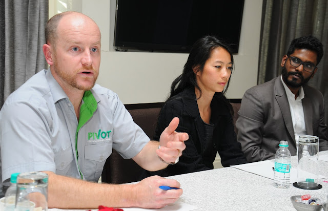 L-R LR  Mr. Timothy Wade (COO) PIVOT, Luan Nio, Country Director, USA, Enviu, Mr. Dylan D'Costa, Director, SaniNation, Pic 1
