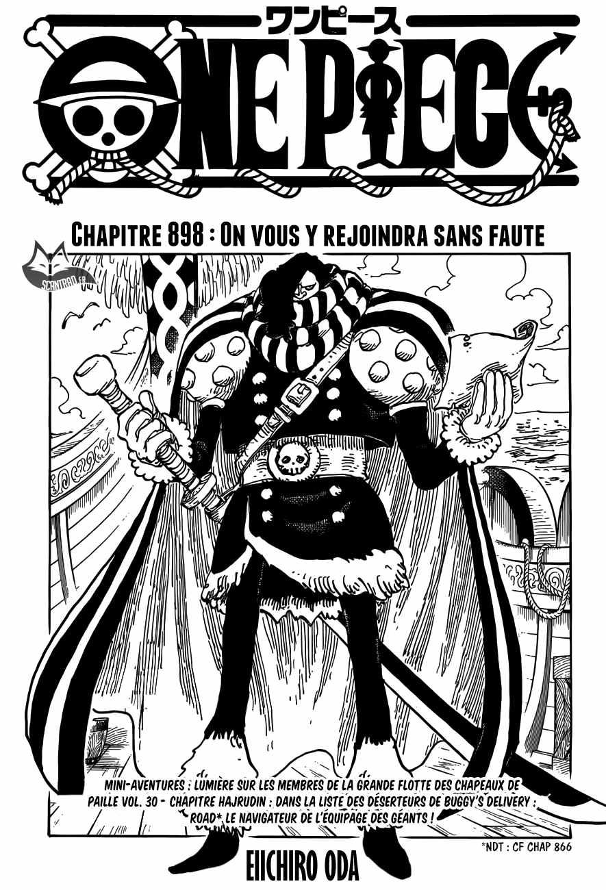 One Piece,Scan 898 | One Piece Scan En Ligne