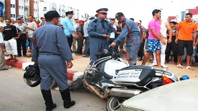 المغرب: سيارة تصدم دراجة دركي وترديه قتيلا
