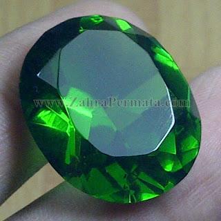 Batu Permata Green Tektite + Memo - ZP 963