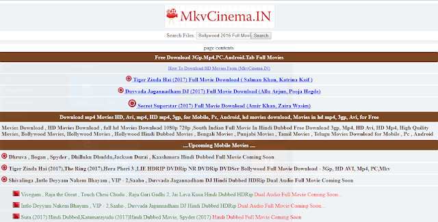 movie site list hindi dubbed