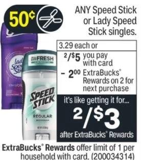 Speed Stick or Lady Speed Stick