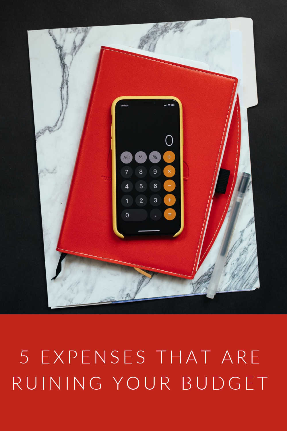 5 EXPENSES RUINING BUDGET