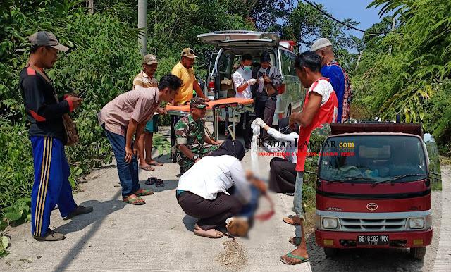 Innalillahi, Lakalantas di Jalan Menikung, Eka Tewas Terlindas Truck Proyek