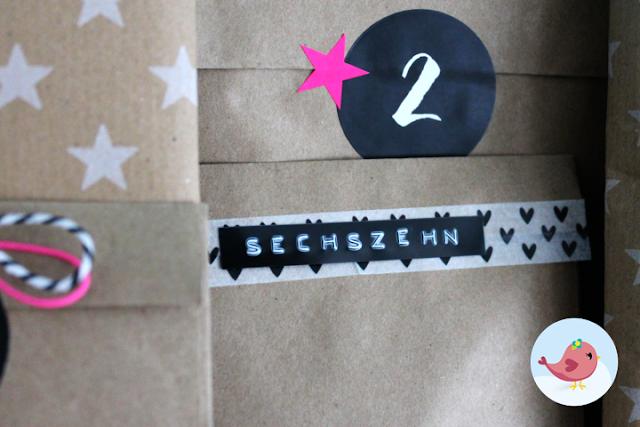 Adventskalender aus Papiertütchen selber machen
