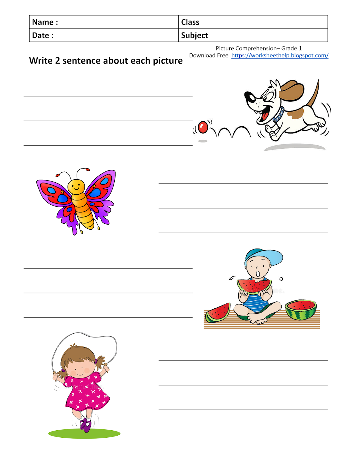 small resolution of Third Grade Composition Worksheets   Printable Worksheets and Activities  for Teachers