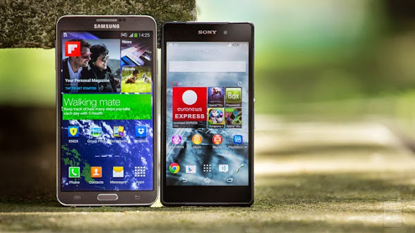 Sony Xperia Z2 vs. Samsung Galaxy Note 3