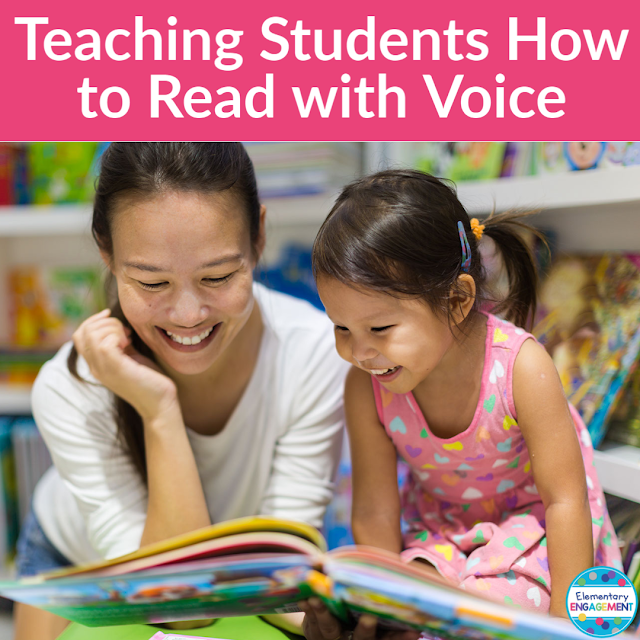 This post shares lessons and strategies for teaching student how to read with the correct voice.  Learning to read with an appropriate voice is a huge part of fluency, and it helps students demonstrate comprehension.