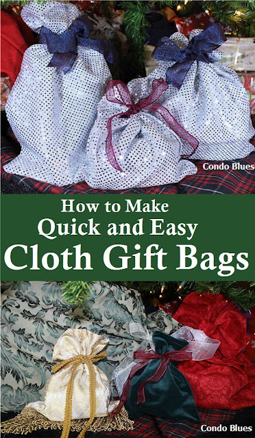 how to make quick and easy cloth gift wrap bags