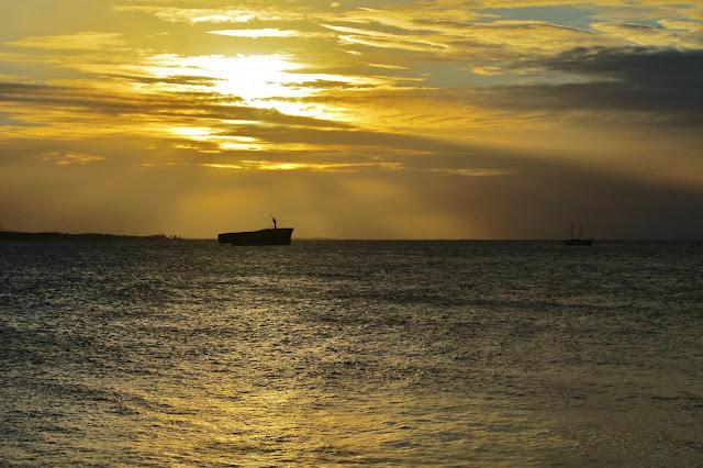 Pôr do Sol na Ponte dos Ingleses, em Fortaleza, no início da Rota das Emoções