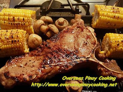Grilled Tagaytay Beef T-Bone Steak with Mushroom Sauce - Cooking Procedure