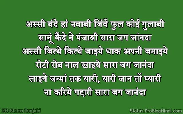 punjabi status for fb