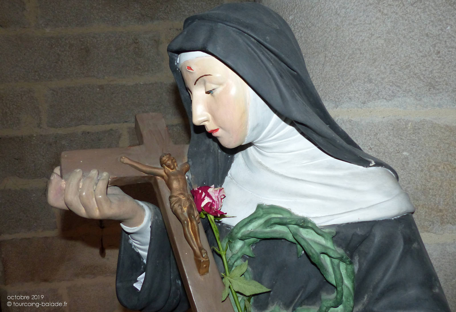 Rita et la Rose - Église Saint Christophe, Tourcoing.