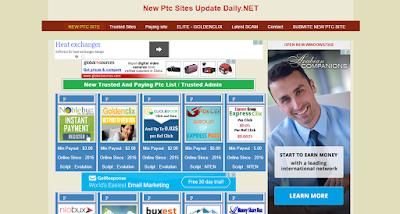 موقع لمعرفة أحدث مواقع الربح من الإنترنيت و أفضلها PTC