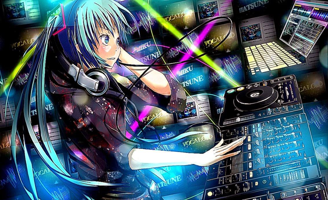 Hatsune Miku Laptop Girl Anime Wallpaper Hd Desktop ...