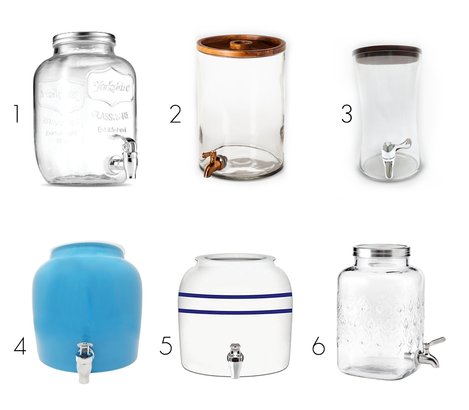 Water dispenser options that allow access for children in a Montessori environment