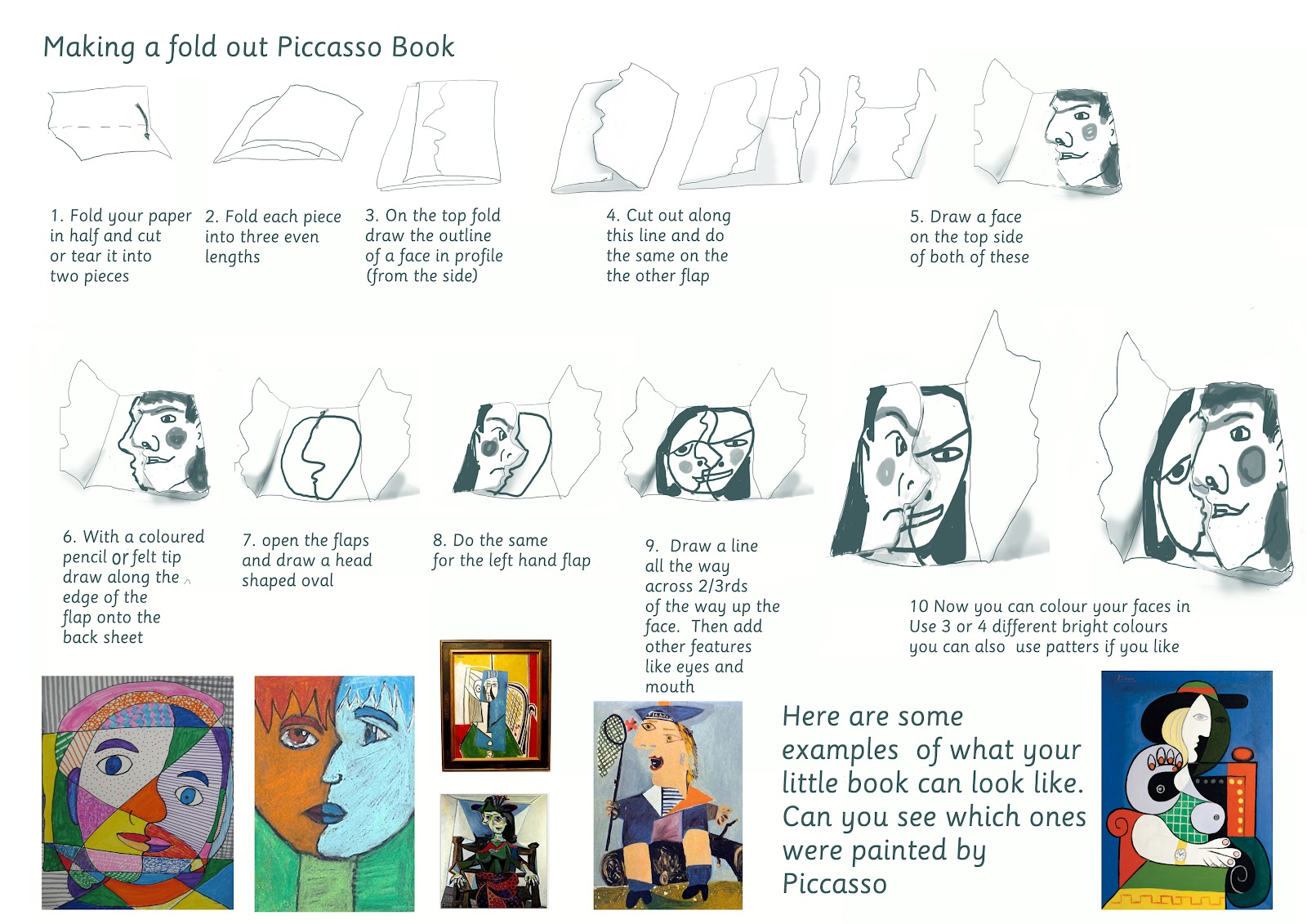 Picasso Worksheet For Tor Bridge High School