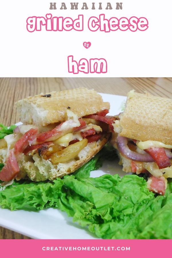 Hawaiian grilled cheese and ham