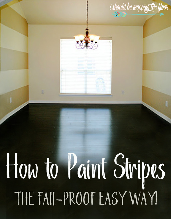 Easiest Way to Paint Stripes