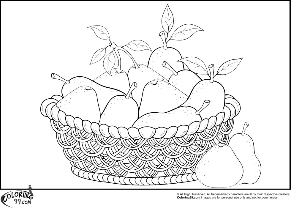 pears coloring pages - photo#9