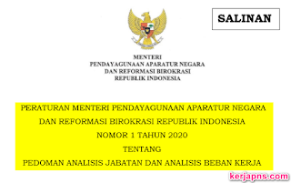 Pedoman Analisis Beban Kerja (Permenpan No 1 tahun 2020)
