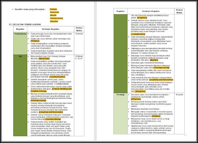 Contoh Format RPP HOTS PPK 4C Literasi