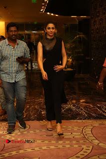 Actress Rakul Preet Singh Stills in Black Saree at Rayudu Movie Audio Launch  0181.JPG