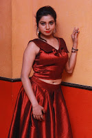 Tamil Actress Anisha Xavier Pos in Red Dress at Pichuva Kaththi Tamil Movie Audio Launch  0020.JPG