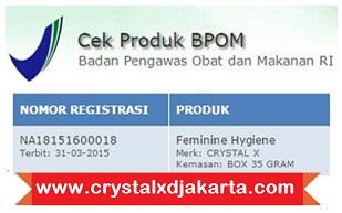 crystal x asli, crystal x aman untuk kesehatan, izin bpom crystal x asli, obat herbal keputihan crystal x asli, obat keputihan, crystal x original, jual crystal x asli