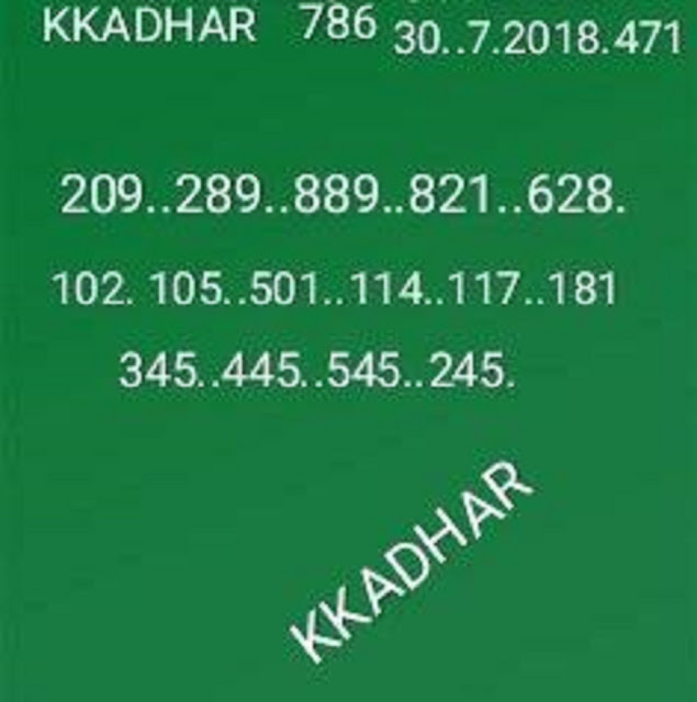 kerala lottery abc guessing win win w-471 on 30-07-2018 by KK