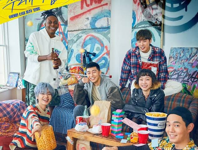 park saeroyi bersama teman satu tim restoran danbam itaewon class
