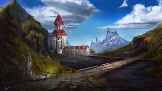 Fantasy art, castle, fairy tale, landscape, art