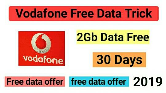 Misscall Karke Vodafone Me 2Gb Data Kaise Paye 2019
